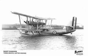 Short Rangoon S1433 Flying Boat Royal Air Force Unused RP Postcard