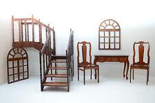 set of furniture for dolls Dollhouse FR Barbie Momoko 1/6 Size 12 inch wooden V2