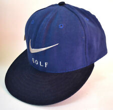 Nike Golf Cap hook and loop back Blue with Black Brim Embroidered front New with