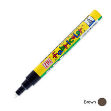 Zig Fabricolor Fabric Marker - 2mm - Brown (Pack of 12)