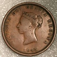 1843 CANADA (New BRUNSWICK) One PENNY Token, VF, free combined shipping.