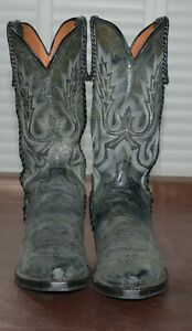 Lucchese  M2610.54 Distressed Calf/Tumbled Cowboy Boot - Size 9.5 (Pre-owned)