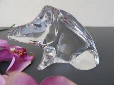 Baccarat statuette sujet Sanglier vènerie chasse gibier... en cristal