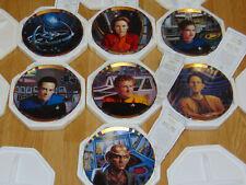 Hamilton Collection 1994 Star Trek Deep Space Nine Plates - Lot of 7