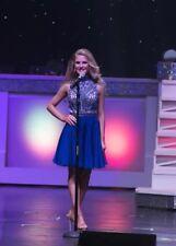 Sherri Hill Cocktail Prom Appearance Dress Beaded Size 2 Royal Blue