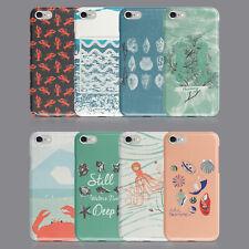 Seaside Verano conchas cangrejos teléfono caso para IPHONE 7 8 XS XR SAMSUNG S8 S9 Plus