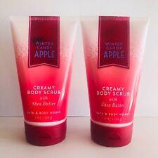 2 Bath & Body Works Hiver Bonbon Pomme Crémeux Exfoliant de Corps Beurre Karité