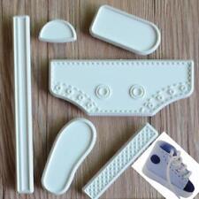 6pcs DIY Plastic Baby High Cut Sneaker Shoe Fondant Cake Cookie Mold Baking JJ