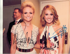 CARRIE UNDERWOOD ~ MIRANDA LAMBERT -=2=- HAND SIGNED AUTOGRAPHED PHOTO WITH COA