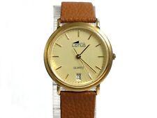 Reloj pulsera cadete LOTUS QUARTZ Original con fecha ref 1005