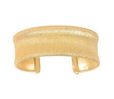 925 Sterling Silver Yellow Scratch Sandblast Sparkle Concave Bangle Bracelet
