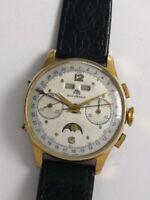 rare Bucherer - triple calendar moonphase chronograph - Vollkalender-Chronograph