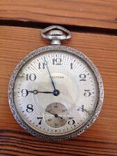 Antique Vintage Waltham Train Railroad Type Minutes Seconds Pocket Watch