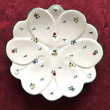 Gmundner Keramik Streublumen Servierteller oder Wandteller Ø ca. 30cm