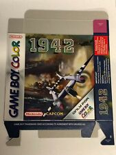 1942 Game Boy Color box ONLY new, original flat packed from nintendo warehouse