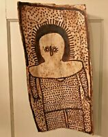 IGNATIA DJANGHARA Original Wandjina Bark Painting Aboriginal Dreamtime Folk Art