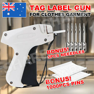 Clothes Garment Price Label Tagging Tags Gun Machine+1000 Barbs 5 Steel Needles