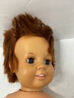 "VINTAGE 1973-1974 IDEAL TOY CORP BLONDE RUB A DUB DOLL 17"" - Mixed Body/Head"