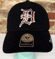 Women's Detroit Tigers 47 Brand Sequence Sparkle MLB Baseball Cap Hat Adjustable