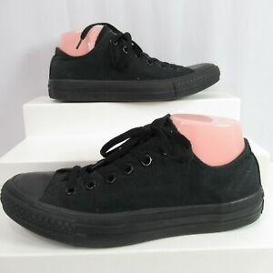 Converse Chuck Taylor Sneakers Mono Black M5039 Low Top Canvas Shoes Mens 6.5