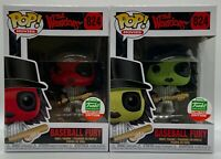 2x FUNKO POP BASEBALL FURY GREEN & RED THE WARRIORS CYBER MONDAY SHOP EXCLUSIVE