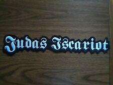 JUDAS ISCARIOT,SEW ON WHITE EMBROIDERED LARGE BACK PATCH