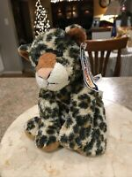 "Mary Meyer Sweet Rascals Leopard Cheetah Cat Plush Stuffed Animal Beanbag 8"""
