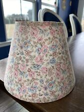 "Vintage country FLORAL PRINT FABRIC 6.25"" Taper Drum LAMP SHADE Clip On Boudoir"