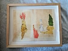 Michael Cline 2005 Acrylic Ballpoint Pen & Collage Listed artist Framed!