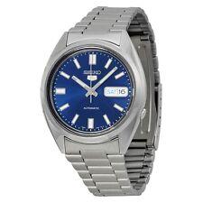 Nueva marca Seiko 5 Caballeros Esfera Azul Reloj Automático De Acero Inoxidable SNXS77 g'tee
