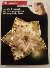 Simplicity Gold Sequin jewel flower Headband Accent