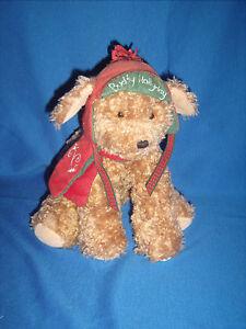 Bunnies by the Bay Hallmark Plush - Buddy Hollyday Dog 2002 Christmas