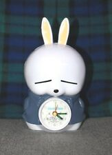 Mashimaro Alarm Clock blue grey gray jacket bunny rabbit free shipping USA used