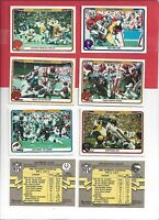 1982 Fleer Football you pick commons 10 picks for $2.00  EX cond. and better