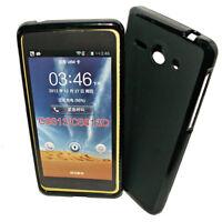 Dark Case Silikon TPU Handy Cover Hülle Kappe in  Schwarz für Huawei Ascend Y530