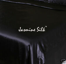 Jasmine Silk 100% 19 MM Charmeuse Silk Duvet Cover (Black) - Double