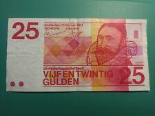 1971 NETHERLANDS, 25 GULDEN BANKNOTE, P#92b, XF