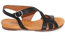 Miz Mooz Ashe Flat Sandals In Black Leather, Brand New, Sz 8