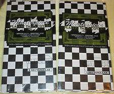 2 Black & White CHECKERED FLAG Racing Theme TABLE COVERS Tablecloth NASCAR PARTY
