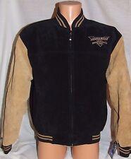ADVOCARE V100 Independence Bowl Black/Brown Leather Suede Jacket - M