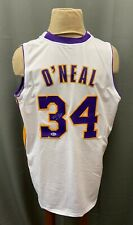Shaquille O'Neal #34 Signed Lakers Home Jersey XL Beckett BAS WITNESSED COA HOF