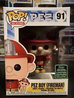 Funko Pop Pez Boy (Fireman) #91 ECCC Exclusive