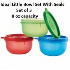 Tupperware Ideal Little Bowl Set of 3 With Matching Seals Snacks Lunch BPA Free