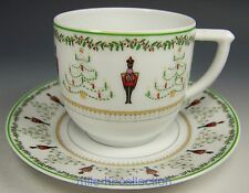 LIMOGES BERNARDAUD GRENADIERS HAPPY HOLIDAY COFFEE TEA CUP & SAUCER TEACUP