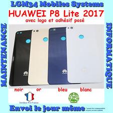 VITRE ARRIERE HUAWEI P8 LITE 2017 AVEC ADHESIF ET LOGO