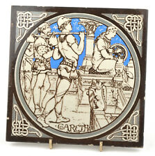 Mintons China Works Idylls Of The King 'Gareth' Tile by John Moyr Smith c.1876