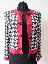 Veste Vintage 1980 SANDRO Pied de Poule Gilet Tissu Taille Unique