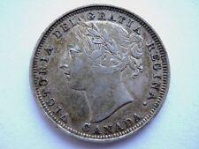 1858 Twenty 20 Cents Silver Canada,Canadian Silver Coin,Queen Victoria