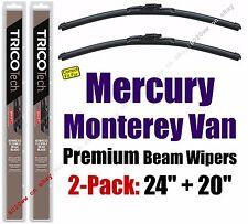Wipers 2 Pack Premium Wiper Blades fit 2004-2007 Mercury Monterey Van 19240/200