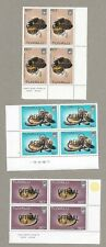 Tuvalu 1984 Handicrafts Set of 3 MNH plus Official overprint block of 4